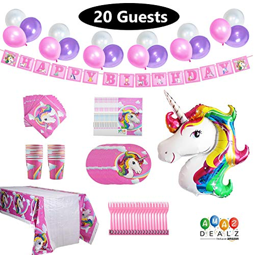 Unicorn Birthday Party Supplies Set Favor- New Design 2019