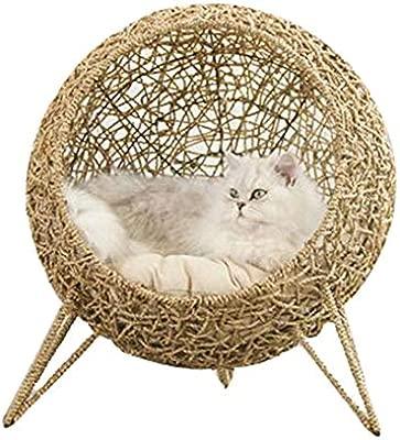 Mimbre Gato Cama Cesta Mascota Perro Casa para Dormir con ...
