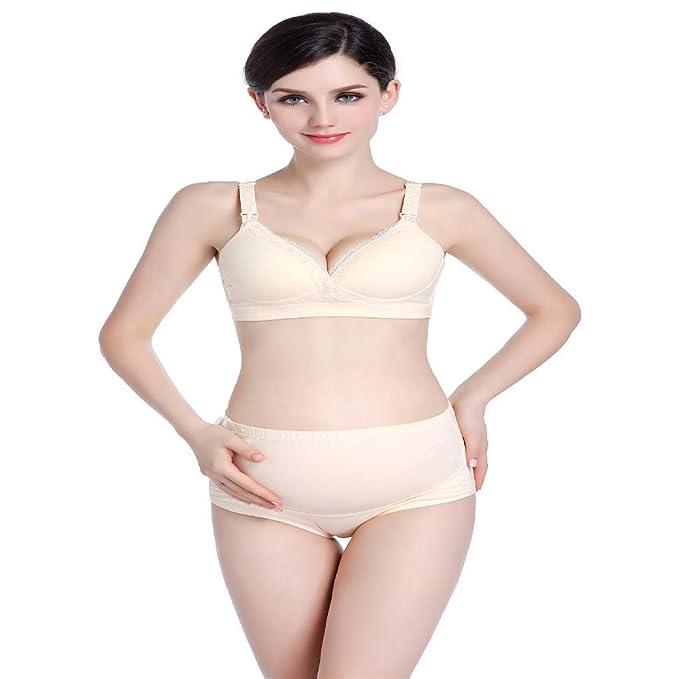 Shirloy Sin Anillo de Acero Reunir Mujeres Embarazadas Sujetador Algodón Sexy Suave Sin Rastro Gran tamaño Conjunto Transpirable Cómoda Ropa Interior: ...
