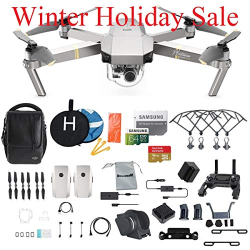 Radio Aircraft Noise (DJI Mavic Pro Platinum Fly More Combo Collapsible Quadcopter Drone Bundle, 64GB Memory Card, 2 Extra Battery, Landing Kit and More)