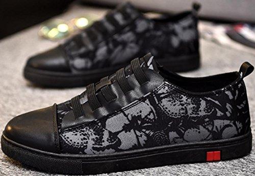 Satuki Canvas Schoenen Voor Heren, Casual Lage Top Klassieke Veturige Zachte Atletische Lichtgewicht Walking Fashion Sneakers Zwart-wit