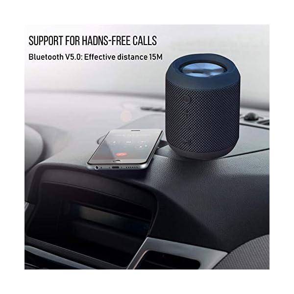 Enceinte Bluetooth Portable, 20W Enceinte Bluetooth Waterproof Audio HD, TWS Haut Parleur Bluetooth 5.0 Pilote Double avec Son 360°, 16 Heures Autonomie Mains Libres Téléphone Support FM, AUX, TF-Noir 2