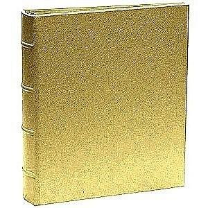 The Post Impressions™ System standard 3-ring Saffiano Golden-Tan Eco-Leather binder unfilled - 8.5x11 by Graphic Image