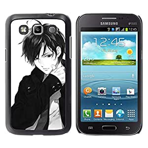 Paccase / SLIM PC / Aliminium Casa Carcasa Funda Case Cover - Guy Bow Japanese Anime Dude White - Samsung Galaxy Win I8550 I8552 Grand Quattro