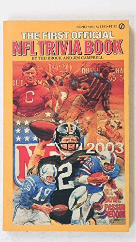 THE FIRST OFFICIAL NFL TRIVIA BOOK BY TED BROCK AND JIM CAMPBELL THORPE -