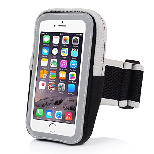 iPhone 6 Armband,iPhone 6S Sports Armband- Badalink Running Cell Phone Holder Case Arm Band Strap With Zipper Pouch Mobile Exercise Workout for iPhone 6 6S iPod Touch - Black