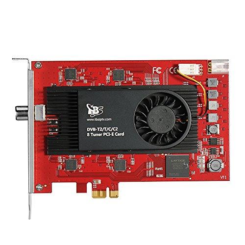 TBS 6209 DVB-T2/ C2/ T/ C/ ISDB-T Octa PCIe Digital TV Tuner Card for PC / IPTV Server by TBS