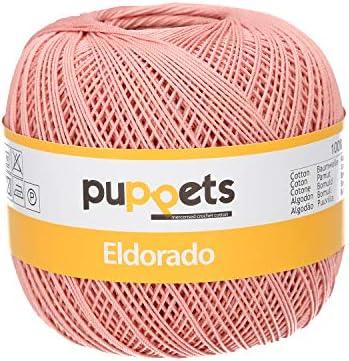 Puppets Eldorado grosor 10 ganchillo hilo, 100% algodón, algodón, 04247 Rosa, rosa: Amazon.es: Hogar