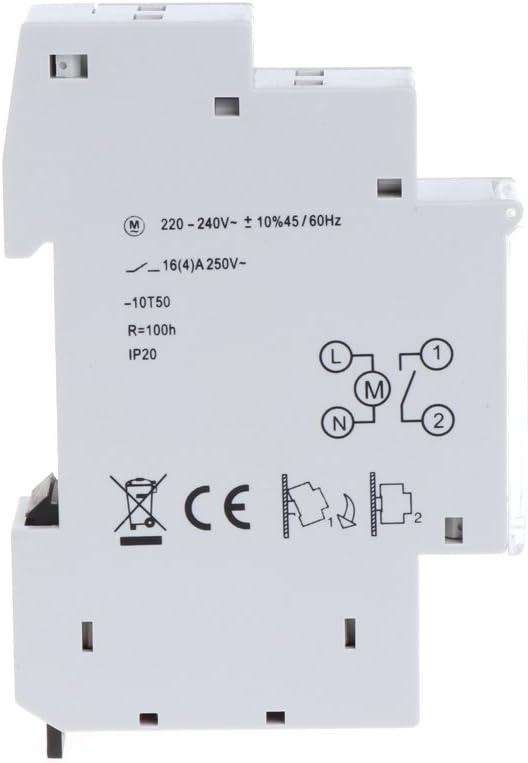 BIlinli M/écanique 24 Heures commutateur programmable de minuterie de Rail DIN c 110-240V 16A