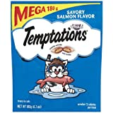 TEMPTATIONS TUMBLERS Treats for Cats Savory Salmon and Tuna Flavors 14 Ounces
