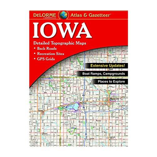 Garmin DeLorme Atlas & Gazetteer Paper Maps- Iowa Atlas & Gazetteer, 010-12648-00 (Iowa Map)