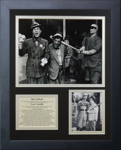 """Legends Never Die """"Abbott and Costello"""" Framed Photo Collage, 11 x 14-Inch"""
