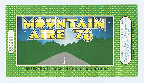 Mountain Aire 1978 Jun 11 Ticket Jackson Browne, Jimmy Buffet Warren - Tickets Browne Jackson