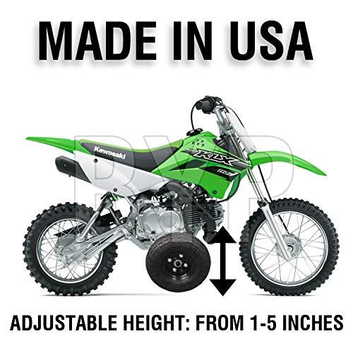 BYP_MFG_INC Adjustable Height Kawasaki KLX110 KLX 110 Kids Youth Training Wheels ONLY