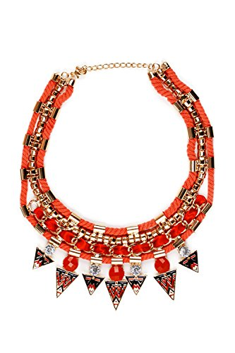 [Tribal Bib Necklace Choker Boho Bling Layered Rope Statement Necklaces For Women (yellow, red, pink,] (Tangled Costume Ideas)