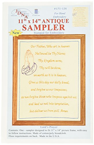 (Jack Dempsey Stamped Sampler, 11 by 14-Inch, Lord's Prayer, Antique)