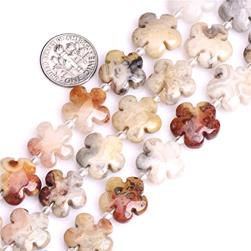 - Joe Foreman Crazy Lace Agate Beads for Jewelry Making Natural Gemstone Semi Precious 15mm Flower 15