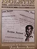img - for Boletin del archivo nacional.numeros 18,19,y 20,habana,cuba,2012.bicentenario de la conspiracion de jose antonio aponte, book / textbook / text book