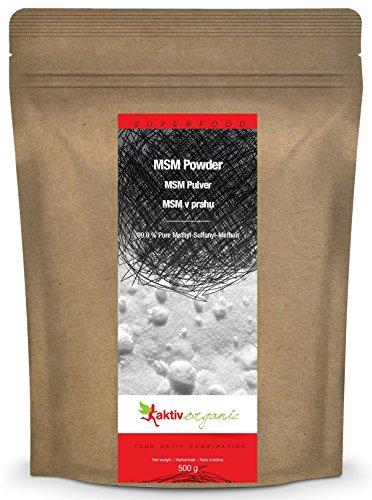 MSM Pulver, 500g, 99,9% Rein Methylsulphonylmethan