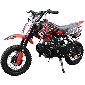 X-Pro 110cc Dirt Bike Pit Bike Mini Gas Dirt Bike Kids Youth Dirt Bike Pit Bike 110cc Gas Dirt Pitbike ,Red