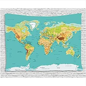 Carte Du Monde Geographie.Carte Tapisserie Carte Monde Geographie Continents
