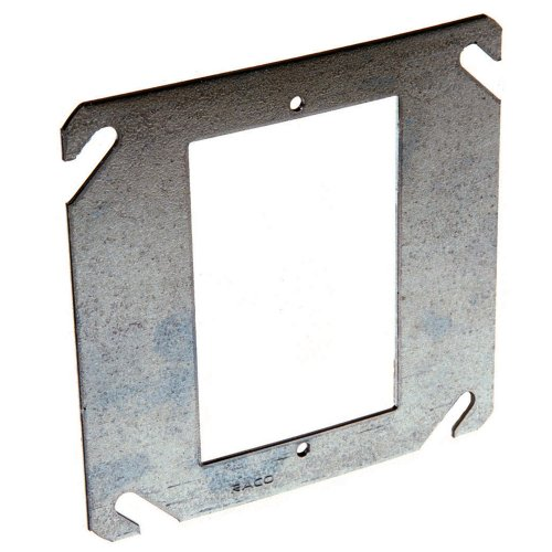 Hubbell-Raco 787 Flat 4-Inch Square Mud-Ring for 1 -