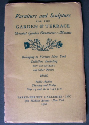 Furniture & Sculpture for the Garden & Terrace: Chinese & Japanese Ornaments in Granite, Bronze & Pottery, Mosaic Panels By Novello, Wrought Iron & Other Metal Work, Terra-Cotta, May 25-26, 1961