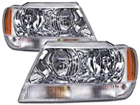 Jeep Grand Cherokee Laredo New Chrome Headlights Set (Limited Style)