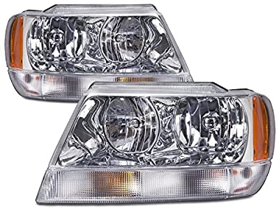 HEADLIGHTSDEPOT Headlights Set (Limited Style) Compatible with Jeep Grand Cherokee Laredo