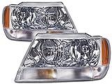 jeep cherokee headlight harness - Jeep Grand Cherokee Laredo New Chrome Headlights Set (Limited Style)