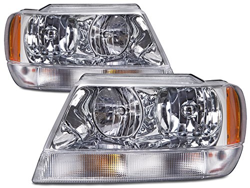 Jeep Grand Cherokee Laredo New Chrome Headlights Set (Limited - 2004 Jeep Cherokee
