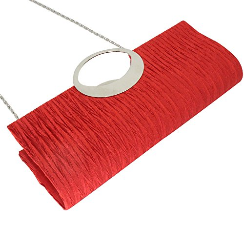 Clutch Glittery wocharm Red Evening Diamante Wedding Formal Wonderful Handbag Silver Black Bag Ladies BzrqRwUZ0B