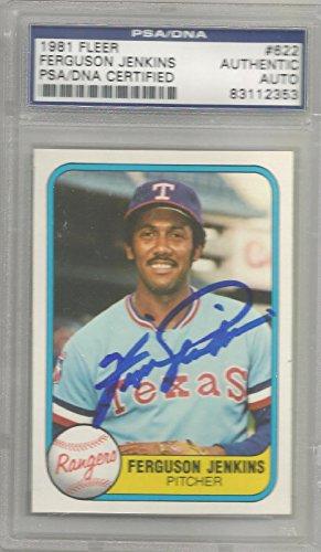 1981 Fleer Baseball Ferguson Jenkins Autographed Card PSA/DNA Certified (CSC) ()