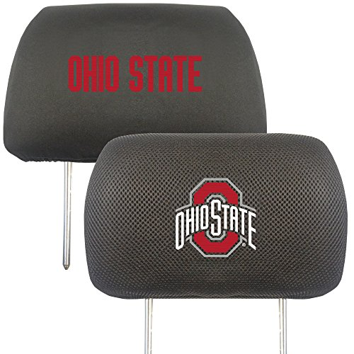 Fanmats 12589 NCAA Ohio State University Buckeyes Polyester Head Rest Cover, 10''x13'' by Fanmats