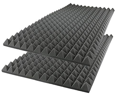 - Foamily Acoustic Foam Sound Absorption Pyramid Studio Treatment Wall Panel, 48