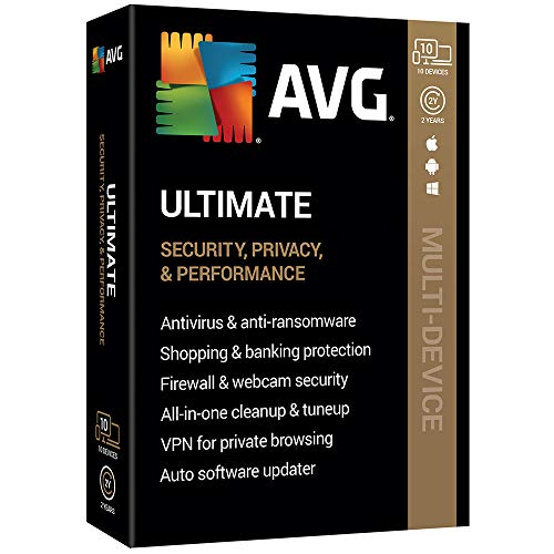 AVG Technologies AVG Ultimate 2020, 10 Devices 2 Year 2020