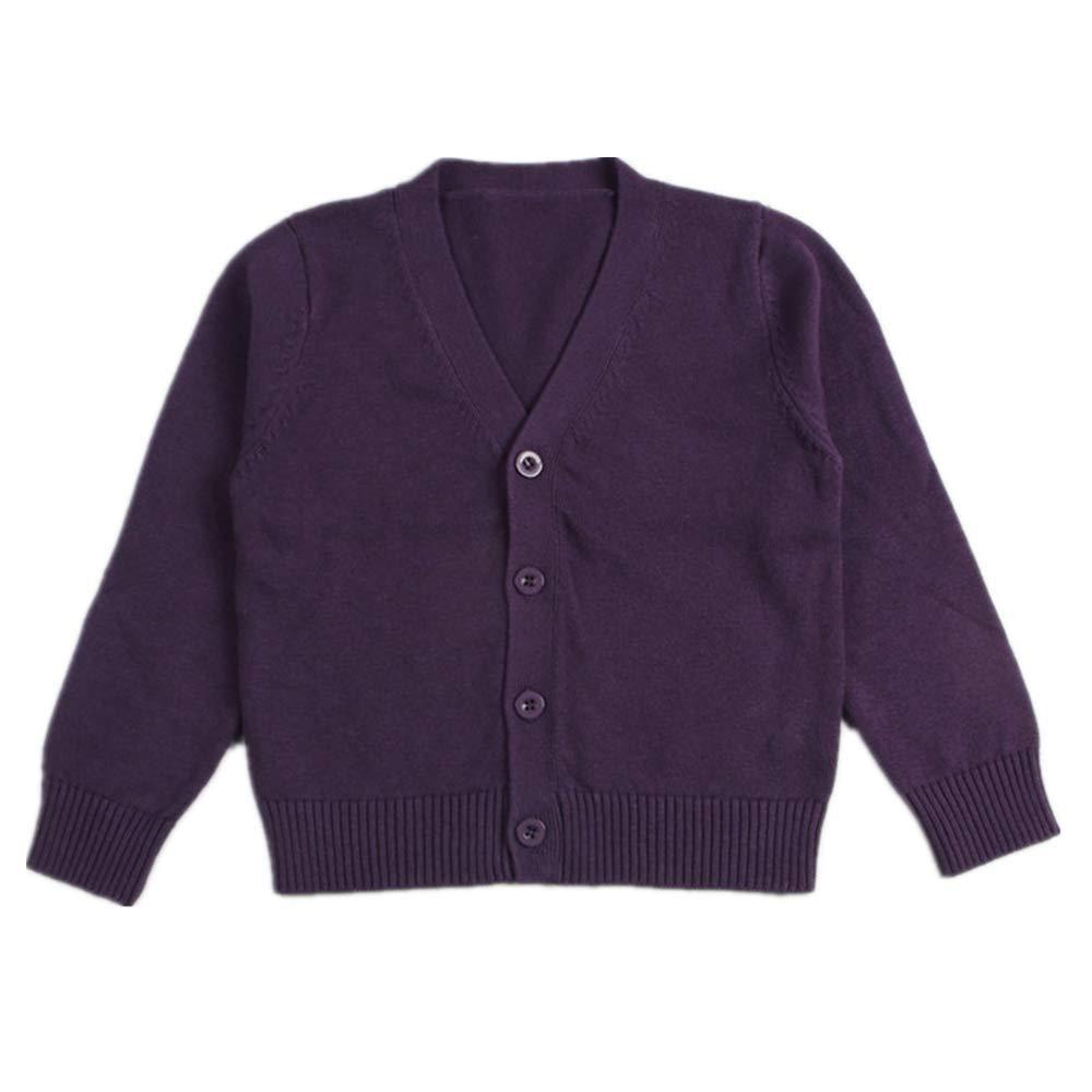 Little Kid Boy Girl Knit Sweater Cardigan Baby V-Neck Button Up Sweatshirt