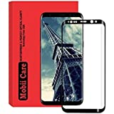 MOBII CARE'S Samsung Galaxy s8 Full Curved Tempered Glass 4D Premium Screen Guard for Samsung Galaxy s8 Scratch Protector (Black) Edges [with Precise Sensor Holes]
