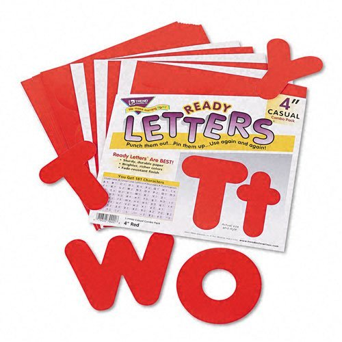 Ready Letters Casual Combo Set, Red, 4''h, 182/Set