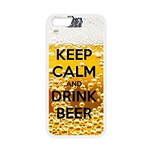 iPhone 6 Plus 5.5 Inch phone case White Keep Calm Drink Beer OPQL5495823