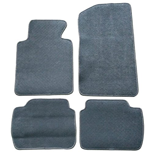 Floor Mat Fits 1999-2005 BMW E46 3-Series | Front & Rear Gray 4PC Nylon Car Floor Carpets Carpet liner by IKON MOTORSPORTS |  2000 2001 2002 2003 2004