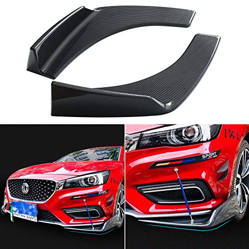 DTOUCH RACING Universal Fit Front Bumper Lip Black Carbon Fiber Splitters Winglets Canards