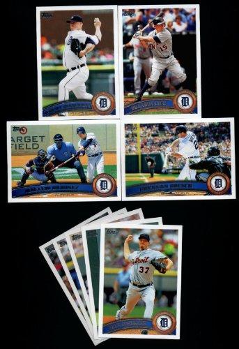 Porcello Bubbles - 2011 Topps Detroit Tigers Complete Series 1 & 2 Team Set / 22 Cards including Bondeman, Inge, Ordonez, Boesch, Austin Jackson, Porcello & more!