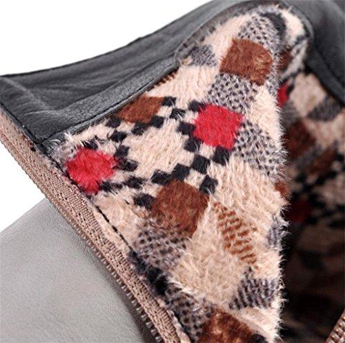 Talons Cheville Meters Taille Stiletto Winter Bottes Chaussures Knee de Heel Biker High personnalité Femmes Calf Tempérament de White Femmes Élégantes HETAO 6dwpq6