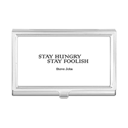 Amazon Com Quote From Steve Jobs Business Card Holder Case Wallet