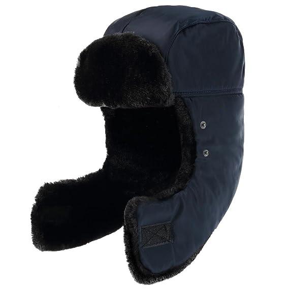 cf27bc82d3b Novawo Unisex Trooper Hat Russia Style Bomber Hat Winter Ear Flap Cap at  Amazon Men s Clothing store