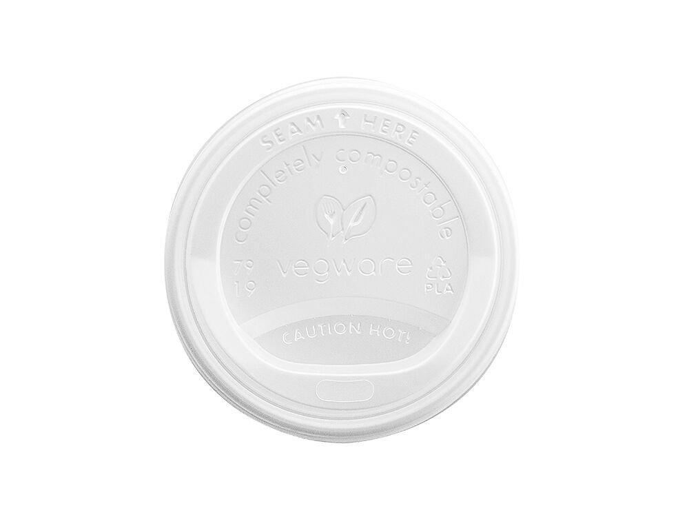 Vegware VLID79S Cpla Hot coperchio, 79mm (Fits 8oz Cup) (confezione da 50)