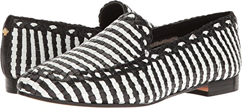 kate spade new york Women's Caylee Moccasin, Black/White, 9.5 M US