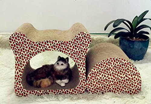 CamRom Cat Hammock Scratcher Rest Lounge Bed Cat Head Shape - Shapes Cat Head