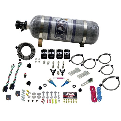 Nitrous Express 20927-12 35-75 HP x 2 Sport Compact EFI Dual Stage System with 12 lbs. Composite Bottle by Nitrous Express